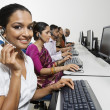 Customer Service Reps In Call Center — Stock Photo #21965715