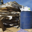 Stack Of Cardbox Boxes With Waste Bin — Stock Photo #21960071