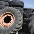 Stock Photo: Tires In Recycling Centre