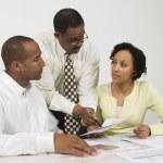 Advisor Explaining Financial Plans To Couple — Stock Photo #21963863