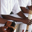 Baseball Players Sitting Together In Dugout — Stock Photo #21964357