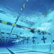 Swimmers Swimming In Pool — Stockfoto