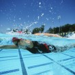 Stock Photo: Swimmer Practicing Before Competition
