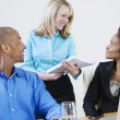 Multi Ethnic Business Communicating — Stock Photo