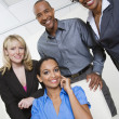 Business People Smiling Together - Foto Stock