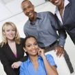 Business People Smiling Together - Stockfoto