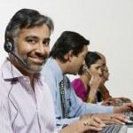 Customer Service Reps in Call Center — Stock Photo