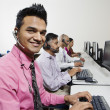 Young Customer Service Operator With Colleagues In The Office — Stock Photo