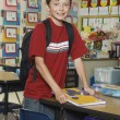 Boy Standing In Classroom — Stock Photo