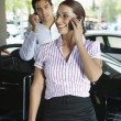 Business Couple On Call — Stock Photo #21969593