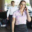 Business Couple On Call — Foto de Stock