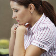 Business Woman Lost In Thoughts — Stock Photo