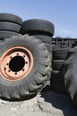 Tires In Recycling Centre — Stock Photo
