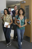 Students Walking Out Of Classroom — Stock Photo