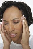 Woman Suffering From Severe Headache — Stock Photo