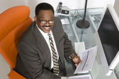 Businessman at His Desk — Stock Photo