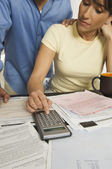 Couple Calculating Financial Budget — Stock Photo