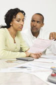 Couple Discussing Bill — Stock Photo