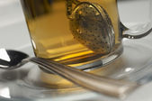 Tea Strainer Dipped In Water — Stock Photo