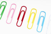 Row Of Paperclips — Stock Photo