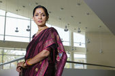 Business Woman In Sari — Stock Photo