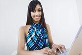 Happy Business Woman Using Laptop — ストック写真
