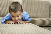 Boy Lying On Sofa — Foto de Stock