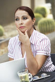 Businesswoman Lost In Thoughts — Stock Photo