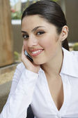Businesswoman On Call — Stock Photo