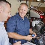 Two Mechanics At Work — Stock Photo