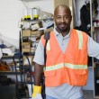 Construction Worker Standing At Workplace — Stock Photo