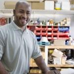 arquiteto masculino no local de trabalho — Foto Stock