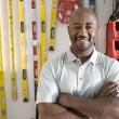 Stock Photo: Happy Man At Workplace