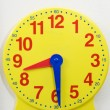 Yellow Time Teaching Clock — Stock Photo