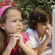 Stock Photo: Little Kids Looking At Laptop