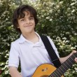 Little Boy Playing Guitar — Stockfoto