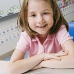 Little Girl Using A Laptop — Stock Photo #21970735