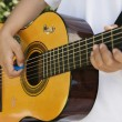 Little Boy Playing Guitar — Foto de Stock