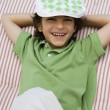 Stockfoto: Boy Wearing Newsboy Cap
