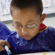 Stock Photo: Elementary Student Painting