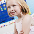 Cute Little Girl In Classroom — Stock Photo