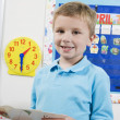 Stock Photo: Elementary Student With Flash Cards