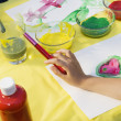 Children Painting — 图库照片