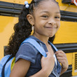 Stock Photo: Cute Girl With Backpack
