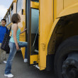 Students Boarding School Bus — Stock Photo