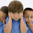 See No Evil Hear No Evil Speak No Evil - Stock Photo