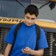 Teenager Boy Listening To MP3 Player — Stock Photo