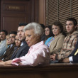 Jurors Sitting In Courtroom — Foto Stock