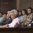 Jurors Sitting In Courtroom — Stock Photo #21972155