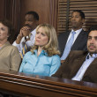 Jurors Sitting In Courtroom During Trial — Stockfoto